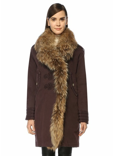 Bazaar Deluxe Palto Mürdüm
